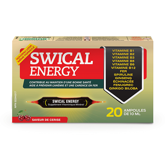 SWICAL ENERGY 20 ampoules de 10mL