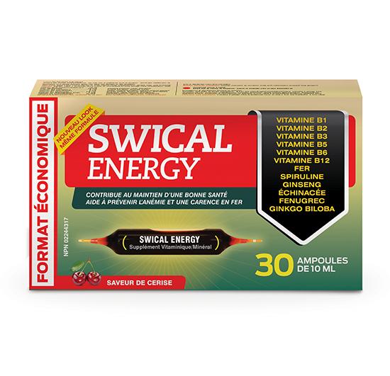 SWICAL ENERGY ÉCONOMIQUE 30 ampoules de 10mL