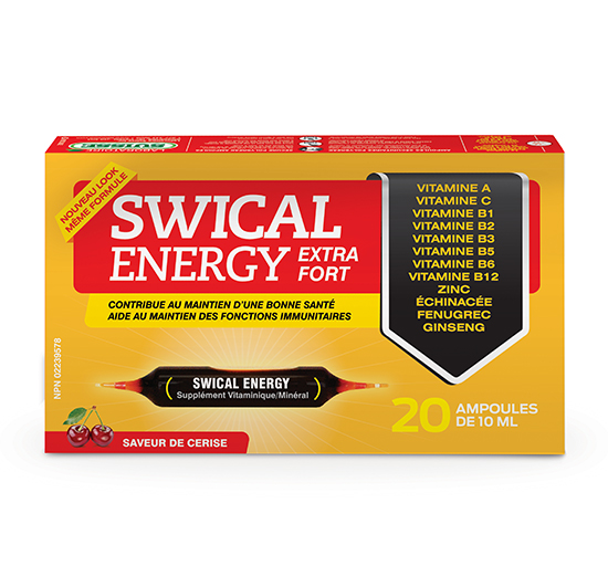 SWICAL ENERGY EXTRA FORT 20 ampoules de 10mL