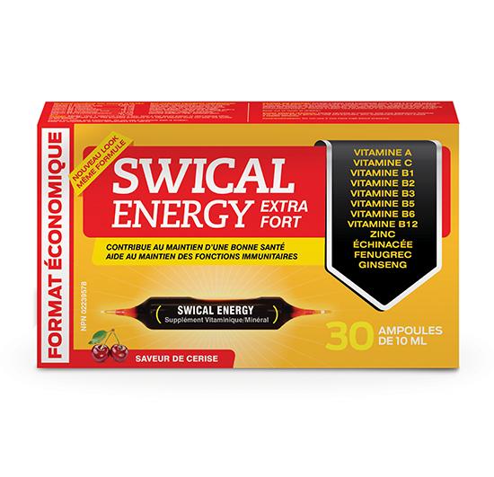 SWICAL ENERGY EXTRA FORT ÉCONOMIQUE 30 ampoules de 10mL