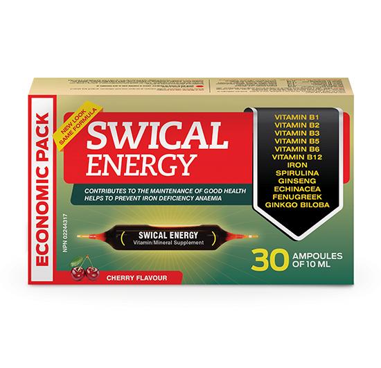 SWICAL ENERGY ECONOMIC SIZE 30 ampoules of 10mL