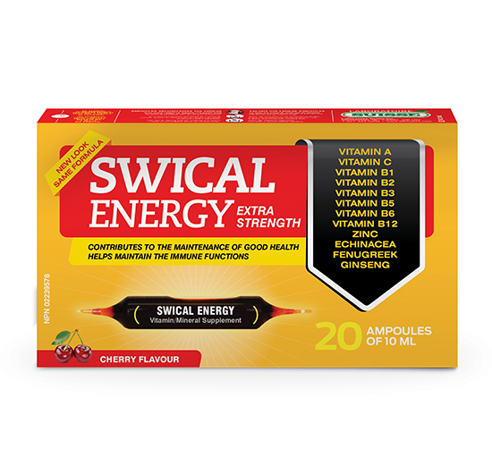 SWICAL ENERGY XF 20 ampoules of 10mL